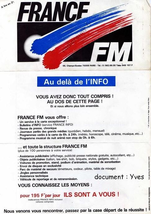 Plaquette France FM 2