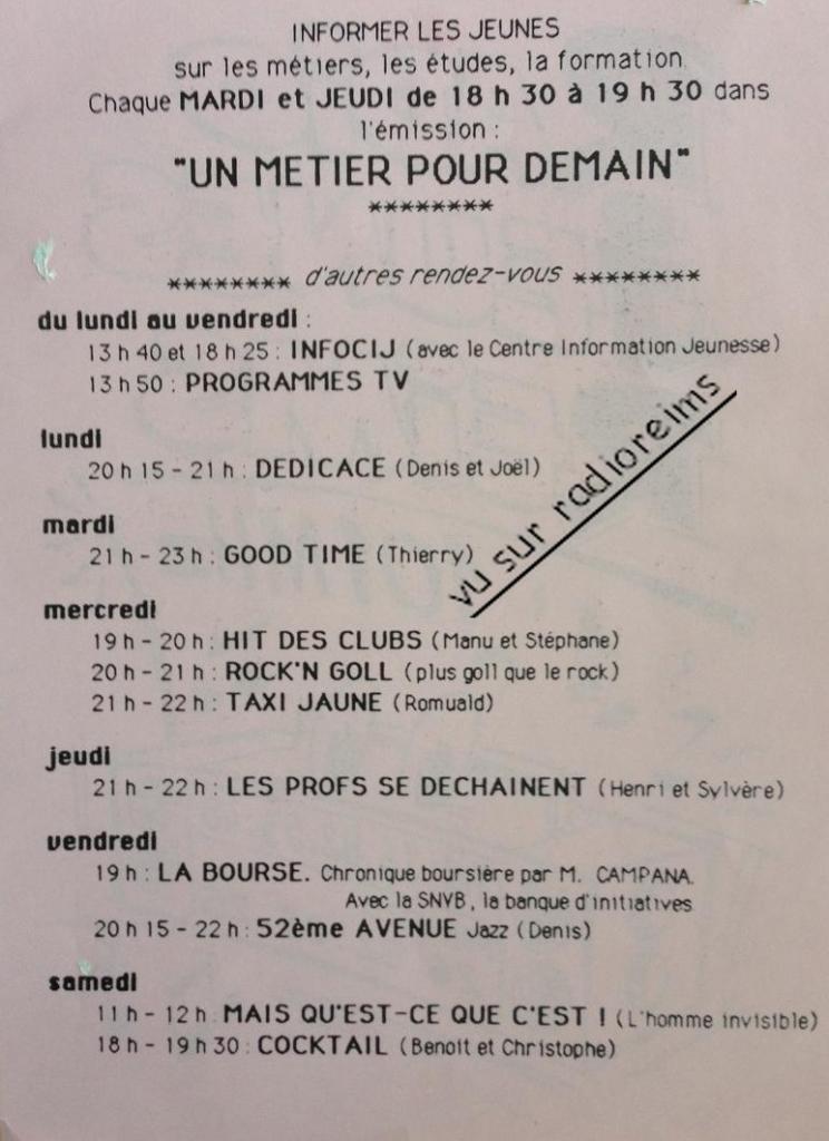 Programmes 1989 1990