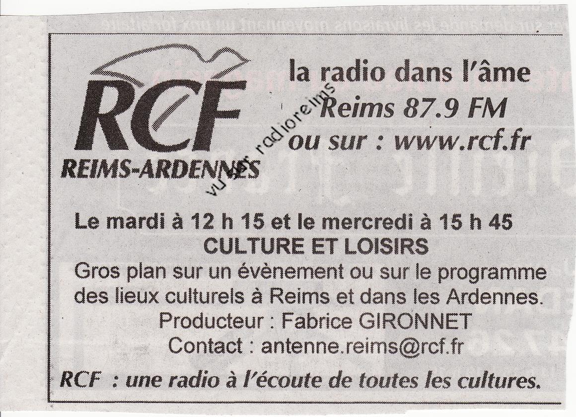 Pub RCF Culture et Loisirs