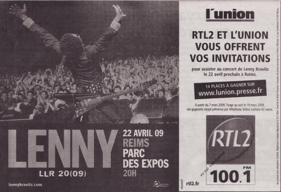 Pub RTL 2 avril 2009 concert