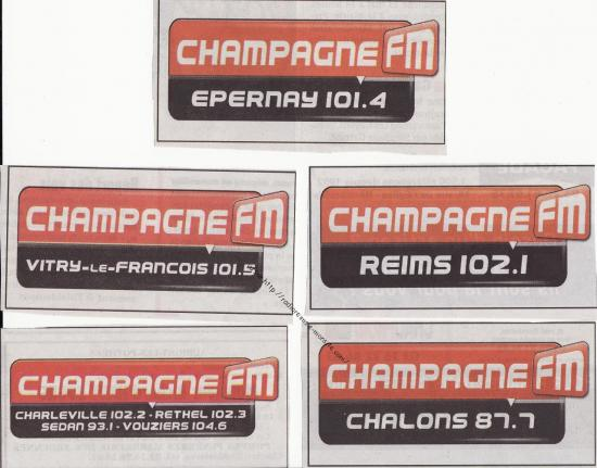 Pubs Champ FM sur l'Union 2012