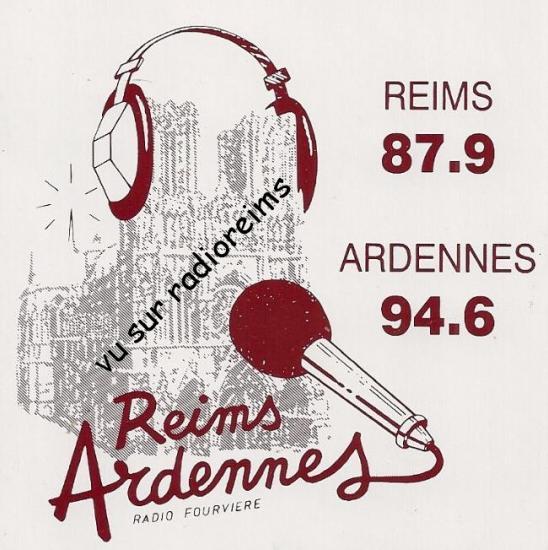1er autocollant Radio Fourvière Reims-Ardennes