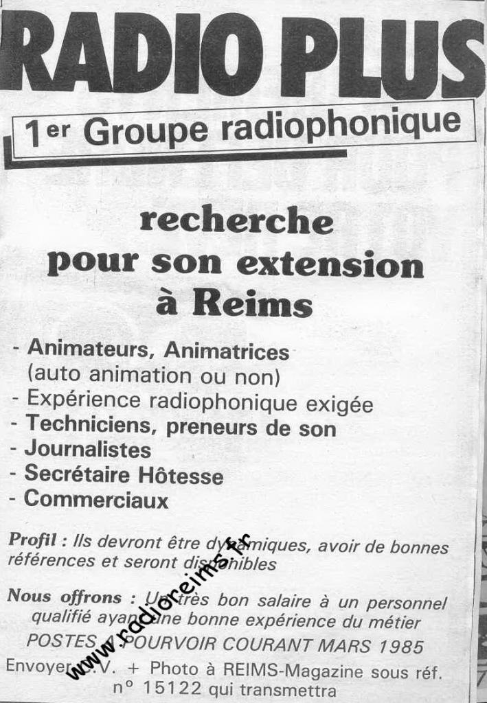 Radio Plus recrute