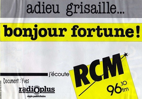 RCM bonjour fortune septembre 1985