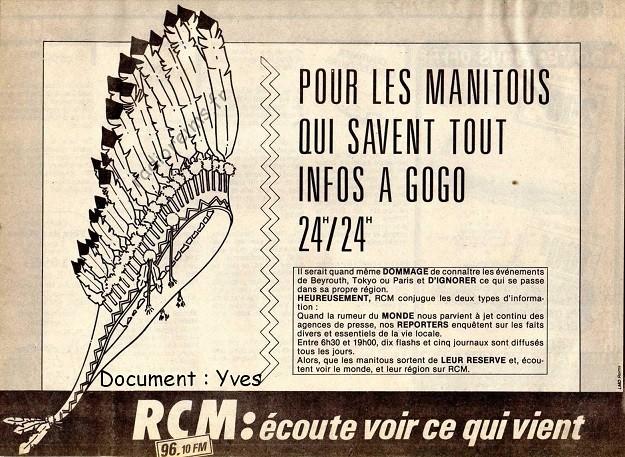 RCM pub info mai 1986