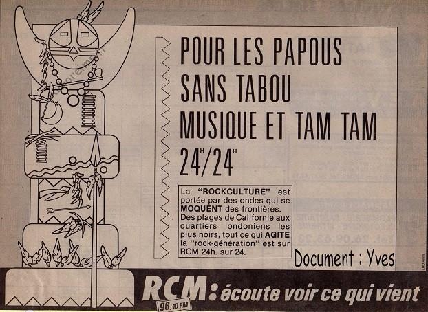 RCM pub musique mai 1986