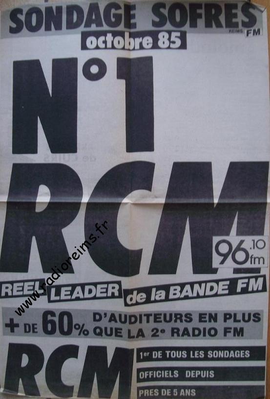 RCM Sondage Sofres oct 1985