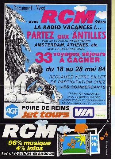 RCM vacances 1984