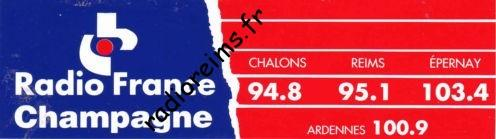 Autocollant Radio France Champagne rectangle