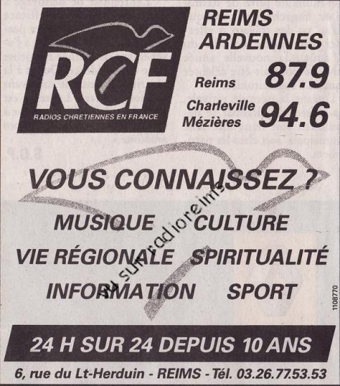 Pub pour les 10 ans de RCF