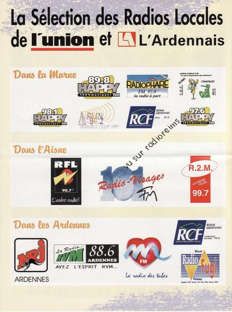 Sélection radios locales l'Union