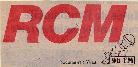 RCM logo juillet 1984